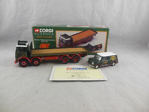 Corgi Classics 31701 Foden 8 Wheel Rigid Truck & Mini Van Eddie Stobart 1:50