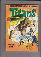 TITANS Album relié 41 (n°121, 122, 123) SEMIC 1989 - ETAT NEUF
