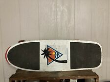 Vintage 1980's Heat Zone White, Red ,Yellow Skateboard nice grip tape too