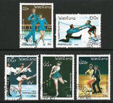 Laos 1989 - Winter Olympics (5) CTO