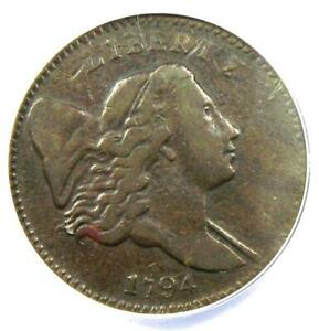 1794 Liberty Cap Flowing Hair Half Cent 1/2C Coin (C-2A) - Certified ANACS F15
