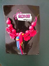 Roxie Parrot  handcrafted Necklace   that ties