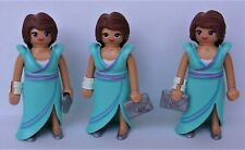 Playmobil   3 x Fashion Girl Evening Dress  Mint Condition