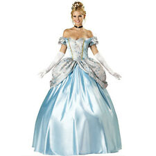 Cinderella Costume Adult Princess Masquerade Halloween Fancy Dress Cosplay L