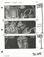 Terminator 3 original production used storyboard sheet includes Lifetime COA
