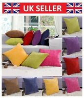 1x Large Thick Cord Quality Square Scatter Cushion Covers Solid Popular Lizzj