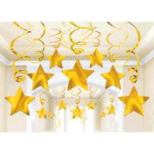 30ct ~ Yellow Shooting Star Swirl Decoration Graduation Birthday Party Supplies
