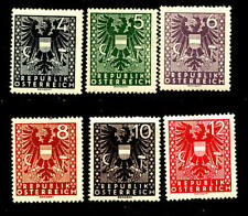 6 Number Austrian Stamps