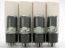 Fivre 6V6GT vacuum tube gray glass matched quad (4) AT1000 Tested