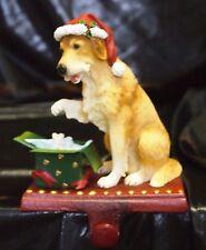 New Maxwell Dog Adorable Christmas Holiday Stocking Holder Figurine