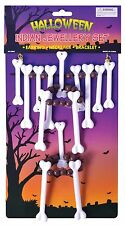 Cavegirl Caveman Bone Necklace Set Halloween Indian Tribal Fancy Dress Accessory