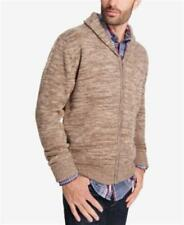 Weatherproof Vintage Shawl-Collar Cardigan Mocha Brown Mens Large New