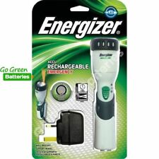 Energizer LED Rechargeable Torch Emergency Light Wall Mount Blackout Indicator