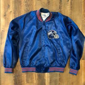 VTG 80s/90s Chalk Line New York Giants Satin NFL Football Helmet Jacket Coat XL