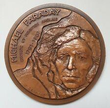 France COPPER medal 1975 - MICHAEL FARADAY, By R. BERNARD, No: 7/100, RARE