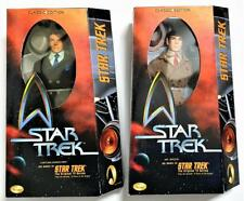 "NEW 1999 PLAYMATES STAR TREK KIRK AND SPOCK 12"" FIGURE SET A PIECE OF THE ACTION"