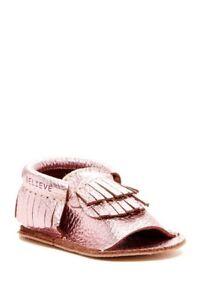 First Steps Leather Moccasin Sandal Toddler Girls' Pink Size US 4   #C-27