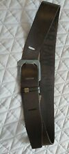 """Gstar Raw Mens Large Leather Belt Brown 34"""" to 41"""""""