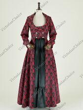 Edwardian Victorian Sherlock Holmes Steampunk Brocade Floral Dress N C058 L