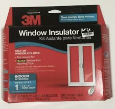 "3M PATIO DOOR Large Window Insulator Kit INDOOR 84""X112"" Clear Film Draft 2144"