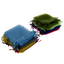 100 Organza Mixed Colors Jewelry Pouch Bags Display 4 X 5 Inches