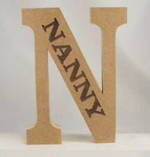FREE STANDING WOODEN ENGRAVED letters large 20 cm,  MDF