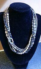 Silpada. 925 Sterling Silver Hematite, Glass Hailstone Necklace N1936