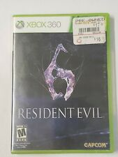 Resident Evil 6 - Complete Xbox 360 Capcom Video Game 2 Disc Microsoft