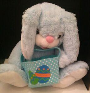 "Dandee  EASTER BUNNY Rabbit w/ Eggs Basket Plush Large 25"""