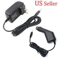 For Acer Iconia Tab A100 /A200 12V Wall Power Charger Adapter + Car Charger/Cord