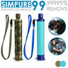 1 Pack 4-Stage Portable Water Filter Straw Purifier Emergency Survival Tools