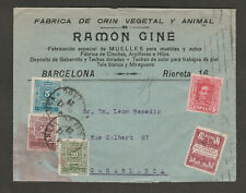 Spain Barcelona 1929 cover to Morroco Casablanca with 5c, 20c & 50c postage dues