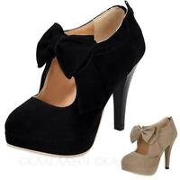 Bow high heel Platform mary janes NEW ladies Womens Pumps Shoes size 13-2 kala