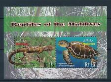 [36843] Maldives 2010 Reptiles Gecko Turtle Mnh Sheet