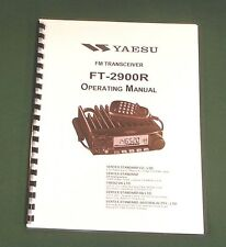 Yaesu FT-2900R Instruction Manual -  Premium Card Stock Covers & 28 LB Paper!