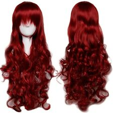 Curly Straight Long Cosplay Hair Wig with Bang Anime Hair Wig Halloween Dress 95
