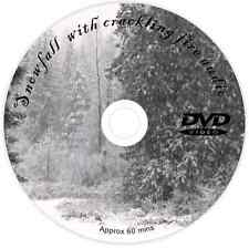 SNOW FALLING WITH RELAXING SOUNDS LOG FIRE DVD CALMING STRESS RELEIF WIND DOWN