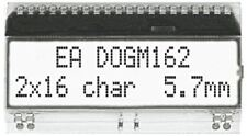 Electronic Assembly EA DOGM162W-A Alphanumeric LCD Display, White on Black, 2 Ro