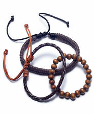 Rogue Accessories Men's 3-Pc. Toas Bracelets (One Size Fits All, Brown)