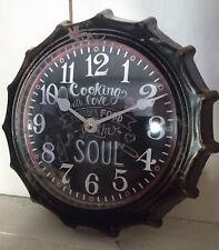 Wanduhr Cooking Retro schwarz weiße Ziffern Shabby 22cm