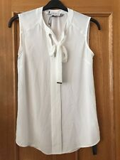 NEW PRINCIPLES BY BEN DE LISI PETITES SIZE 10 IVORY WHITE BLOUSE SHIRT TOP