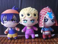 3pcs JoJo's Bizarre Adventure Golden Wind Plush Giorno Narancia MistaToy Doll