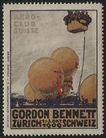 Svizzera - 1909 - Erinnofilo Gordon Bennett - nuovo MH