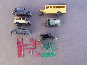 Highway Miniatures HO Built Broken Jordan Car Lot, Parts Only
