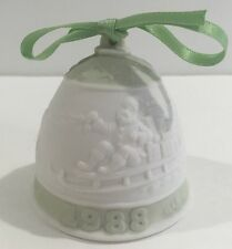 Lladro 5525 2nd Annual Christmas Bell Ornament 1988 Mint Condition!
