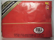 Full Double Flat Sheet - Burnt Orange Cinnamon - Tastemaker Muslin New in Pkg