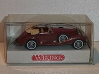 Wiking ( 835 / 1O ) - Mercedes 540 K Cabrio , weinrot , OVP  -  T@P