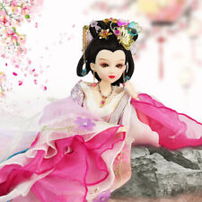 Beautiful Flexible Joints Body Doll Oriental Chinese Ancient Costume Doll Pink