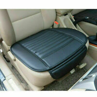 Black Universal PU Leather Car Front Seat Cover Breathable Auto Chair Cushion