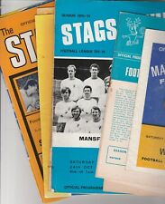Mansfield Town Home Programmes 1966 onwards